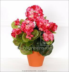 Mesterséges csokor muskátli világos rózsaszín 40 cm