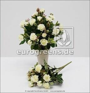 Mesterséges csokor rózsa fehér 25 cm