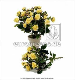 Mesterséges csokor Sárga rózsa 25 cm