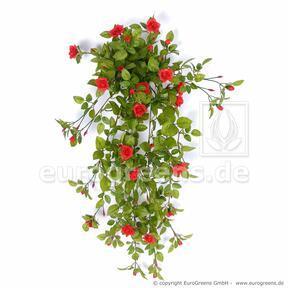 Mesterséges inda Rózsa piros 85 cm