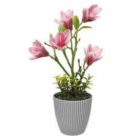 Mesterséges magnólia virágcserépben 21 cm
