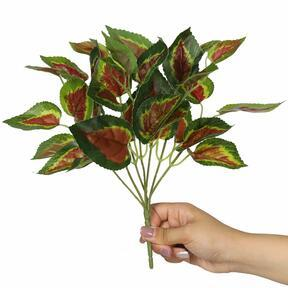 Mesterséges növény bazsalikom vörös 25 cm