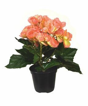 Mesterséges növény Begonia narancssárga 20 cm