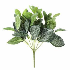 Mesterséges növény Fitónia fehér 25 cm