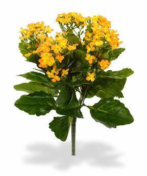 Mesterséges növény Kalanchoa narancssárga 30 cm