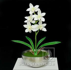 Mesterséges növény Orchidea Cymbidium krém 50 cm