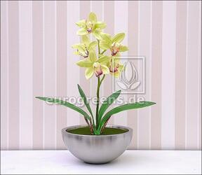 Mesterséges növény Orchidea Cymbidium világoszöld 50 cm