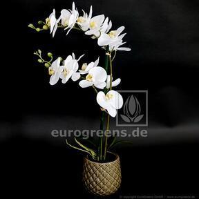 Mesterséges növény Orchidea fehér 65 cm