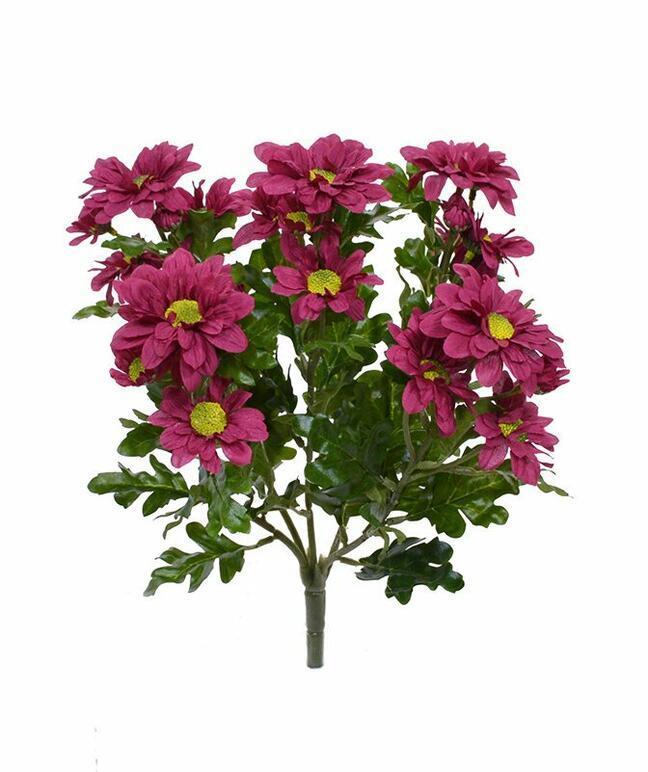 Mesterséges növény Vörös-bordó krizantém 35 cm