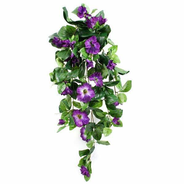 Mesterséges Petunia inda lila 80 cm