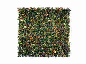 Mesterséges virágpanel Buxus sokszínű - 50x50 cm