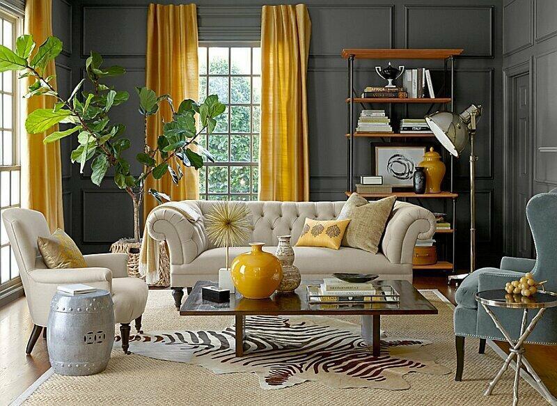 Elegantná obývacia izba.
