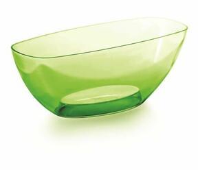 Tál COUBI ORCHID zöld átlátszó 36,0 cm