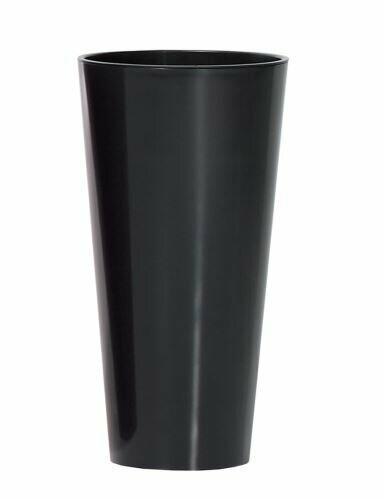 TUBUS SLIM virágcserép + antracitfényű 20 cm-es betét
