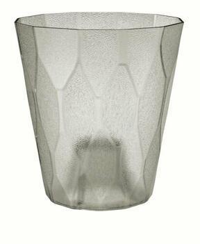 Virágcserép ROCKA P átlátszó jégszürke 17,0 cm